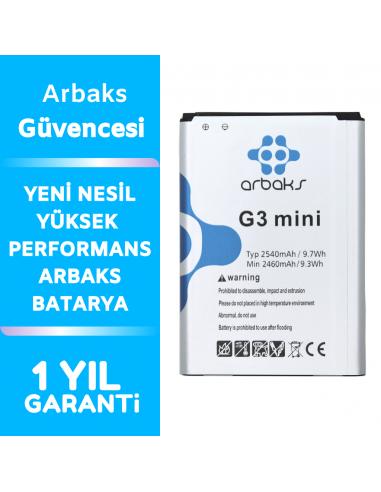 Arbaks LG G3 Mini Batarya BL-49SF G3...