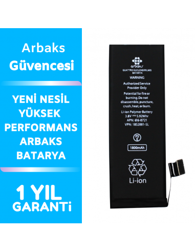 Arbaks iPhone 5GS Batarya...
